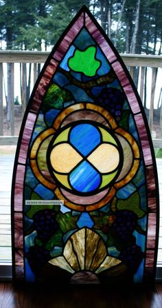 antique stained glass windows | Antique Stained Glass Church Window From Vermont. . Unknown photo