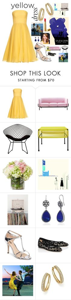 """#yellow dress La La Land"" by cielshopinteriors ❤ liked on Polyvore featuring Alexander McQueen, MOROSO, Ciel, Innit, Crosley, Emma Chapman, Pink Paradox London, Bloomingdale's, yellow and emma"