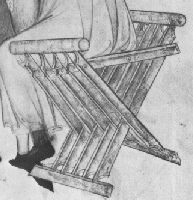 A doctor's folding stool | from a manual on surgery dated 1412 | Muckley 1386 Furniture