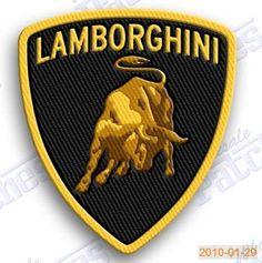 ITALIAN MUSCLE CAR ENGINEERING SEW//IRON PATCH FERRARI LAMBORGHINI EMBROIDERED