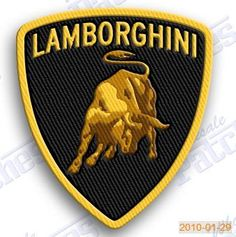 Lamborghini - IRON ON 100% EMBROIDERED EMBROIDERY PATCH - AUTO CAR 2.8 X 2.2 INCHES 100% EMBROIDERED PATCHES - SEW IT ON OR IRON IT ON OR JUST ADD TO YOUR COLLECTION RACING SPORTS FAST LUXURY HO