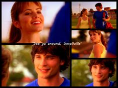 Smallville. When Lois left after she'd gone or Smallville High for a couple weeks.