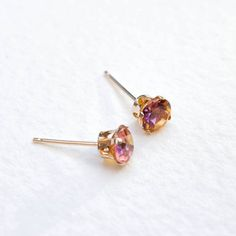 Sunset topaz earrings 9ct gold by PinkAtDusk on Etsy