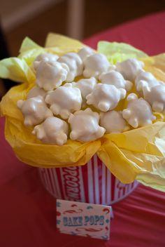 Buttercream Treasures: Circus cake and popcorn cake pops