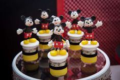 Fun favors at a Mickey Mouse birthday party! See more party planning ideas at CatchMyParty.com!