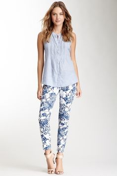 DKNY Jeans Kimono Floral Print Crop Jegging from HauteLook on Catalog Spree