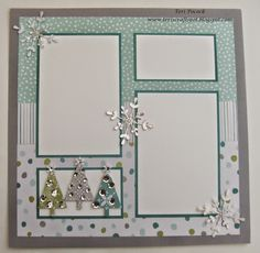 Stampin' Up! - All Is Calm - Scrapbook Page 2  Teri Pocock - http://teriscraftspot.blogspot.co.uk/2014/11/all-is-calm-scrapbook-page-2.html