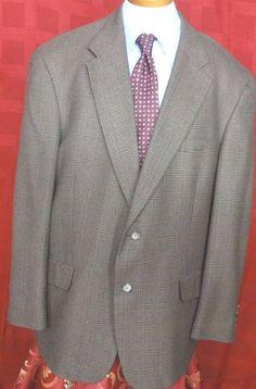 Tommy Hilfiger Mens Wool Blend Multi color 2 Button Plaid Sport Coat Size 44R #TommyHilfiger #TwoButton