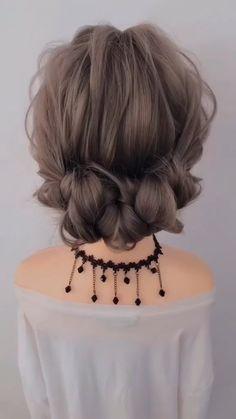 Braided Hairstyles Tutorials, Easy Hairstyles For Long Hair, French Braid Hairstyles, Cute Hairstyles, Wedding Hairstyles, Hairstyles Videos, Easy Long Hair Braids, Easy Hair Buns, Short Hair Bridesmaid Hairstyles