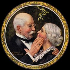 Under The Mistletoe by Norman Rockwell, 1919 http://www.bonzasheila.com/art/archives/dec11/23.html