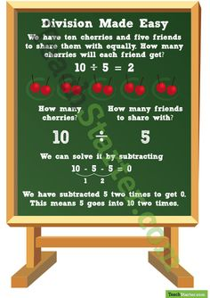 Division Made Easy Poster | Teach Starter - Teaching Resources
