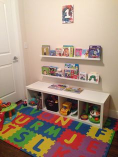 Book & toy storage made easy! Thanks to ikea.