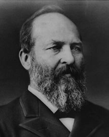 A portrait of #President James A. Garfield (1831–1881) 20th President of the United States (March 4, 1881 through September 19, 1881 Assasinated) Republican #PresidentsOfUSA