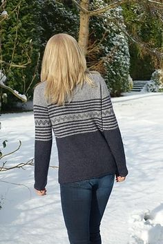 Ravelry: Kyrian pattern by Paulina Popiolek Knit Stranded, Ravelry, Knitting Patterns, Bell Sleeve Top, Pullover, Jackets, Color, Promotion, Collection