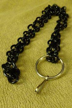 Black duo chain badge holder , lanyard, sturdy by DezignsbyMel on Etsy