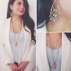 Statement Necklace Long and beautiful petite in design it will look amazing layered with other design or alone. Ocean Jewelers Jewelry