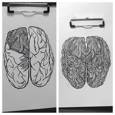 Jaime Falco #brain #drawing #zentangle #ink #art