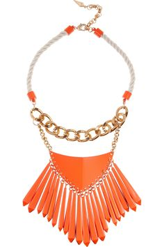 Sass  bide|One Fine Day coated-brass necklace|NET-A-PORTER.COM