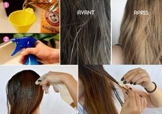 How to Lighten Your Hair Naturally An easy and economical simple recipe that allows you to lighten your hair naturally at home and without having to go to the hairdresser while keeping your Beauty 101, Beauty Hacks, Hair Beauty, New Hair, Your Hair, Holy Body, Sombre Hair, Natural Hair Styles, Long Hair Styles