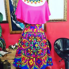 Images about #vestidosestilizados tag on instagram Mexican Fashion, Folk Fashion, Mexican Style, Womens Fashion, Mexican Dresses, Ethnic Print, Spring Outfits, Designer Dresses, Beautiful Dresses