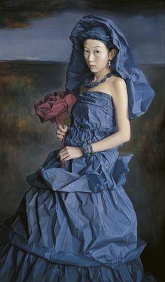"""Китайский художник Zeng Chuanxing - """"Paper Brides"""" (25 работ)"""