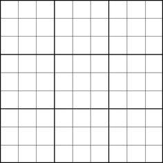 Sudoku Template | Blank Sudoku Grid Template 600.600