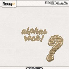 Quality DigiScrap Freebies: Stitched Twill Alpha freebie from Mommyish