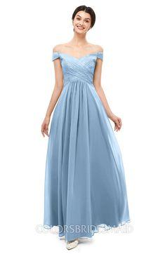 745832d91d46c ColsBM Lilith Bridesmaid Dresses Off The Shoulder Pleated Short Sleeve  Romantic Zip up A-