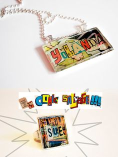 comic book custom name jewelry