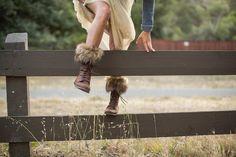 http://www.royalscoutandco.com/shop/faux-fur-womens-boot-cuffs Hiking Girl Boot Cuffs, we LIKE.