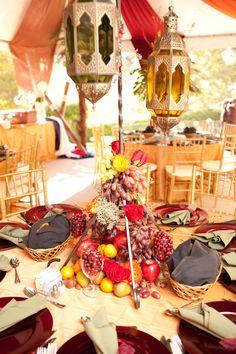 Moroccan centerpiece    Wedding Planner , Floral and Event Designer