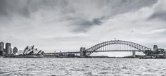 Sydney Harbour Bridge and the Opera house stock photo