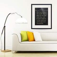 """John 3:16- Bible Verse Wall Art Collection""  (2015) by MarkLawrence"