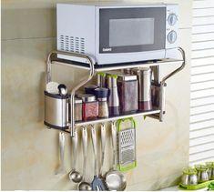 Microwave Wall Shelf, Mounted Microwave, Hanging Microwave, Microwave Cabinet, Kitchen Wall Shelves, Wall Mounted Shelves, Microwave Oven, Kitchen Cabinets, Kitchen Island
