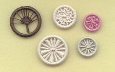 I attended a short workshop on Saturday at Bower Hinton Workshops to make traditional Dorset buttons. We started with the basic Blandford...