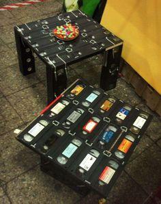 Riciclo creativo delle videocassette - Tavolini