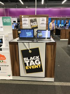 Currys PC World.  Same message as in 2015, and one that accommodates the promotional campaign better than use of the term Black Friday alone.  The colour conveys the occasion that it is tapping into