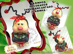 Vasinhos Decorados Jardim Encantado II     Estas peças são para complementar esta coleção que faz o maior sucesso!               Encomende...