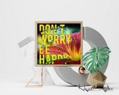 Don´t worry be happy - Logo kaufen, Geschenkidee, Webbanner, Wandplakat, Grafik design, Vektorgrafik, Flyer, Portrait nach Foto Web Banner, Flyer, Grafik Design, No Worries, Portrait, Pictures, Cool Posters, Ideas For Christmas, Gifts For Children
