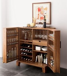 Bar cabinet! So we have more cabinet space for pantry items!