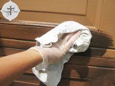DIY: Faux Stained Wood Garage Door Tutorial :: Hometalk