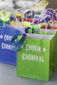 Cute idea! If only Brooklyn had more cousins around her age that lived close by! Landee See, Landee Do: Summer Activity Idea: Cousin Carnival!