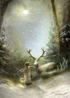 Then One Foggy Christmas Eve Fairy Gifts, Fantasy World, Fantasy Art, Christmas Art, Christmas Gifts, Illustration, Fairy Art, Faeries, Fairy Tales