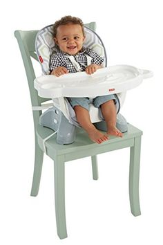 Pull up a chair at the big kids table. The #Fisher-Price #SpaceSaver High Chair straps securely to just about any kitchen chair, dining chair or restaurant chair ...