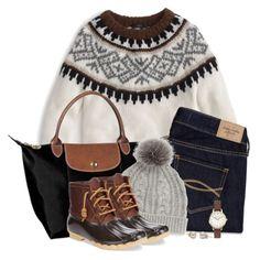 J.crew fair isle sweater & cable knit beanie