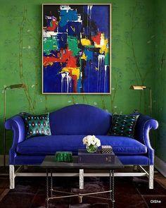 Big abstract painting art painting original acrylic on canvas modern art abstract wall art modern art Blue yellow red green
