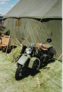 Military Motorcycle  1942 Harley WLA Flathead