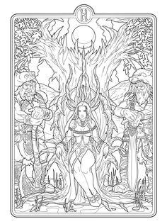 Helheim+Goddess+lines+by+deviantAshtareth.deviantart.com+on+@deviantART