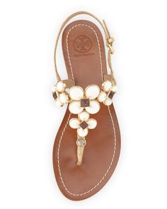 Tory Burch Jameson Embellished Thong Sandal