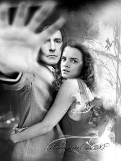 Severus Snape And Hermione Granger Photo by Snape And Hermione, Remus And Sirius, Severus Snape, Alan Rickman, Harry Potter Fan Art, Black And White Pictures, What Is Love, Hogwarts, Actors & Actresses
